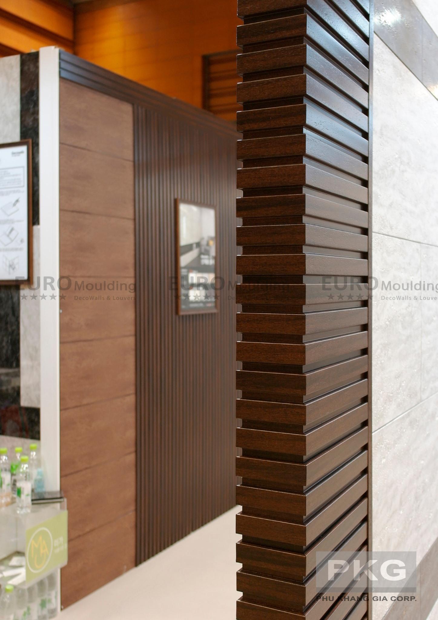Ứng dụng lam gỗ nhựa ốp tường cho các công trình kiến trúc hiện đại