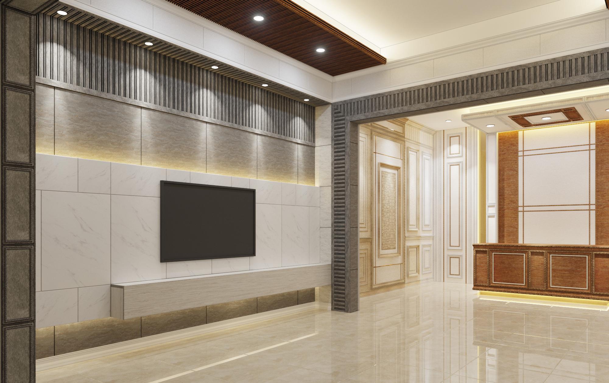 Thiết kế showroom đẹp bằng những sản phẩm cao cấp: phào chỉ, lam nhựa, gạch nhựa 3D